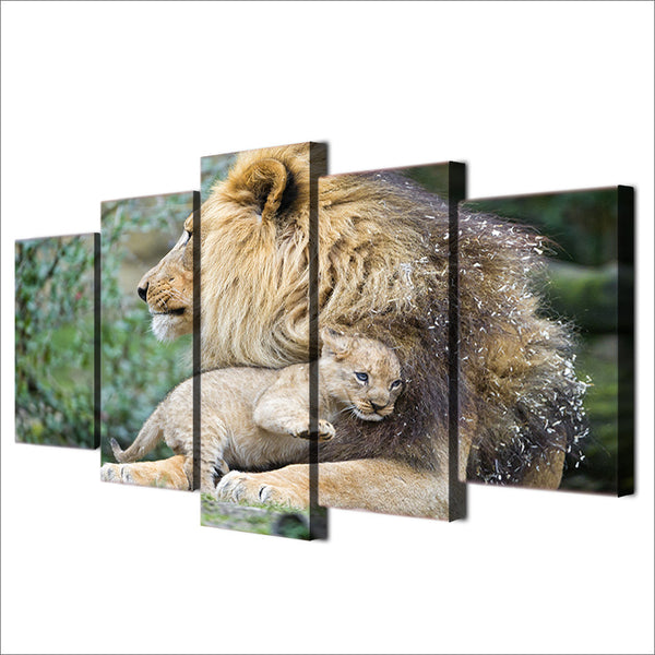HD Printed African lion mother Painting Canvas Print room decor print poster picture canvas Free shipping/ny-2056
