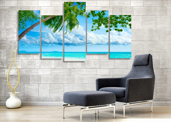 HD Printed tropical beach resorts picture Painting wall art room decor print poster picture canvas Free shipping/ny-641