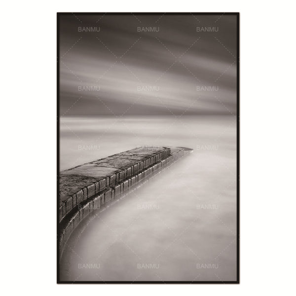 Nordic Bridge Future Abstract Wall Pictures for Living Room Art Decoration Pictures Scandinavian Canvas Painting Prints No Frame