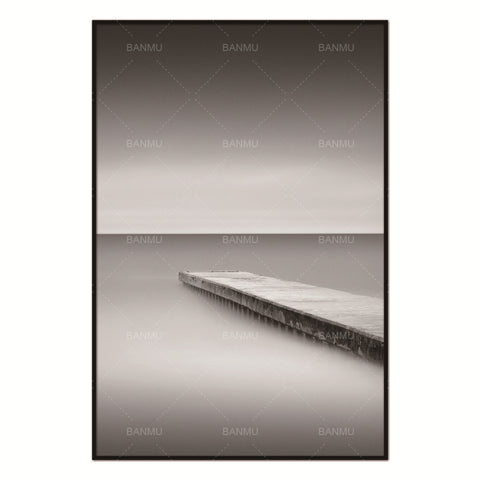 Scandinavian Bridge lake Hope Nordic Abstract Wall Pictures for Living Room Art Decoration Pictures Canvas Painting No Frame
