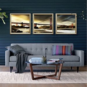 3 panels home deco wall decorative oil painting the bridge golden gate bridge print on canvas No Framed