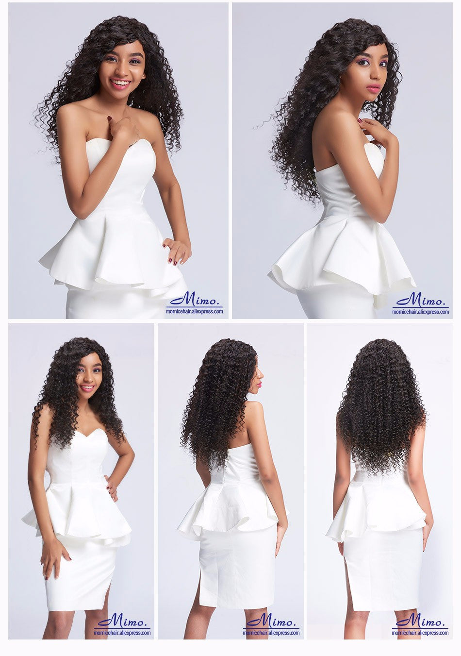 "Mornice Hair Brazilian Deep Wave Remy Hair 1 Bundle 100% Human Hair Weave 12""-26"" Natural Black Free Shipping 100g"