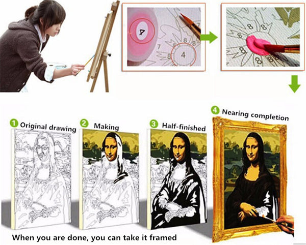 DRAWJOY Framed Pictures DIY Painting By Numbers DIY Digital Canvas Oil Painting Figure Painting 40*50cm Wall Art