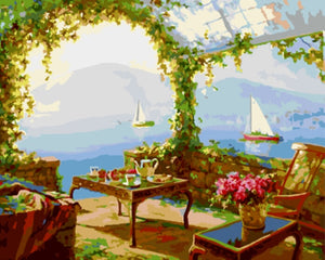 Seascape Painting By Numbers Frameless Oil Painting DIY Coloring By Numbers Wall Pictures For Living Room GX9171 40*50cm