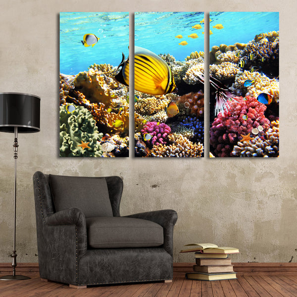HD Printed Marine fish coral dolphin Painting Canvas Print room decor print poster picture canvas Free shipping/ny-6415C