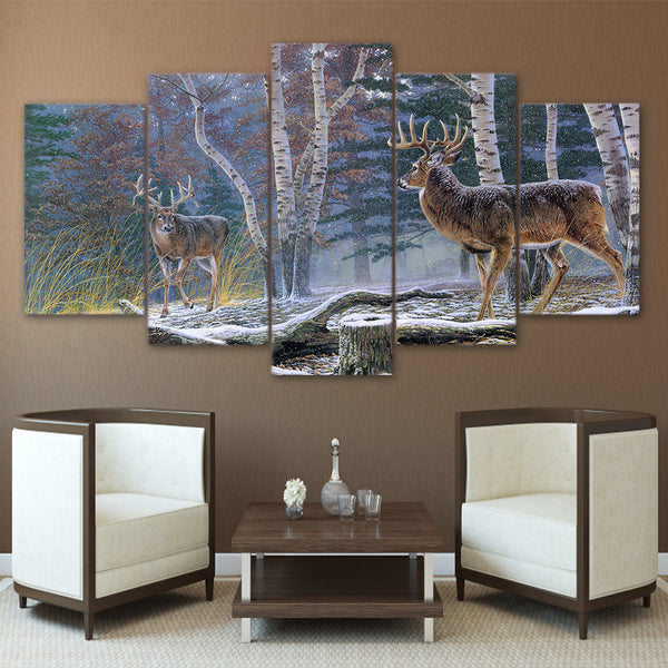 HD Printed Jungle two antelope Painting Canvas Print room decor print poster picture canvas Free shipping/ny-4981
