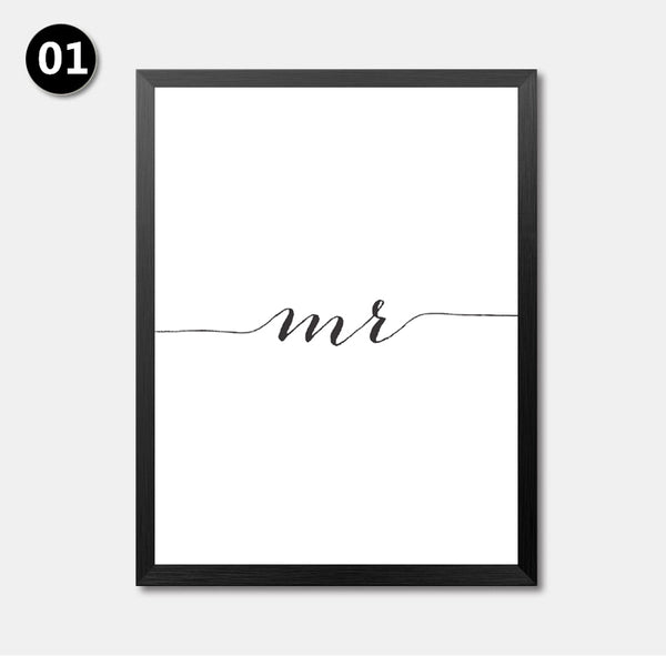 English Art Letters Quotes Painting Wall Decor Painting Love Canvas Art Print Poster, Wall Pictures For Home Decoration HD2163