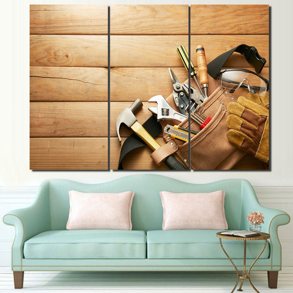 3 Piece Canvas Art Hand Tools Wooden Poster HD Printed Wall Art Home Decor Canvas Painting Picture Prints Free Shipping NY-6593C