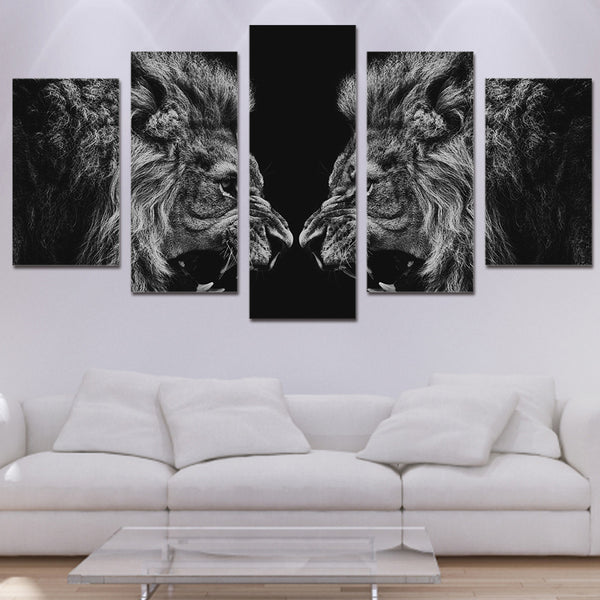 HD Printed Lion mirror Painting Canvas Print room decor print poster picture canvas Free shipping/NY-5974