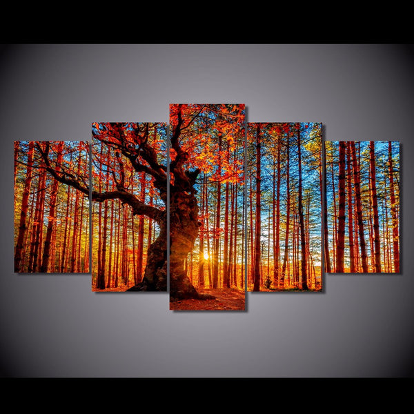 HD Printed forest sky trees autumn foliage Painting Canvas Print room decor print poster picture canvas Free shipping/ny-6280