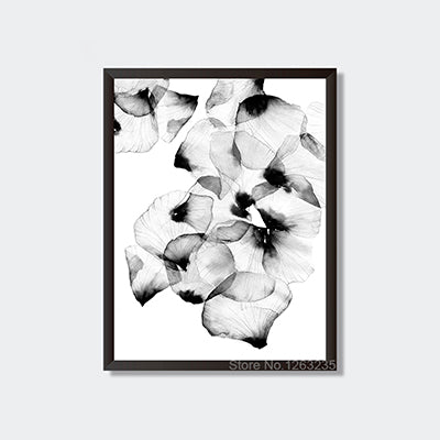 Posters And Prints Cuadros Wall Art Canvas Painting Black Petals Wall Pictures For Living Room Nordic Decoration No Poster Frame