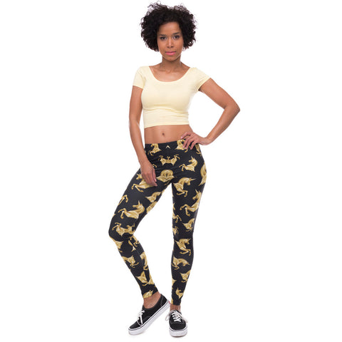 High Elasticity Egyptian cat symbols Printed Fashion Slim fit Legging Workout Trousers Casual Pants
