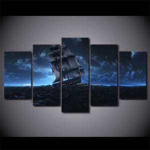 HD Printed sail ship sea voyage picture Painting wall art room decor print poster picture canvas Free shipping/ny-882