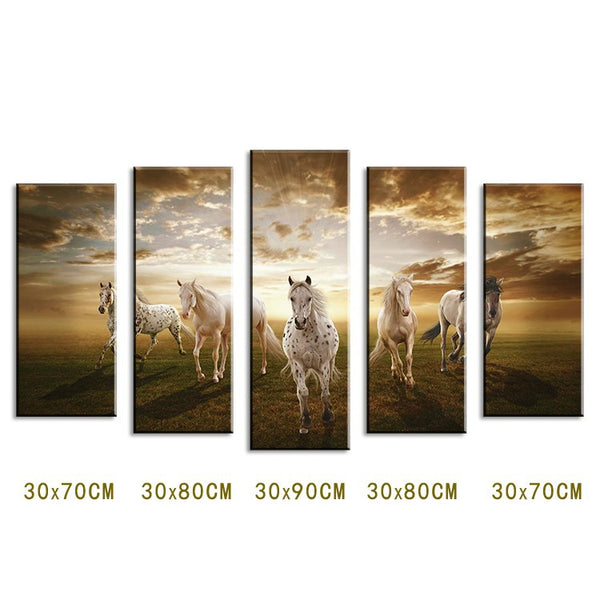 5 piece Wall Paintings Home Decorative Modern horse Art combination Paintings for home creative idea decor No framed!