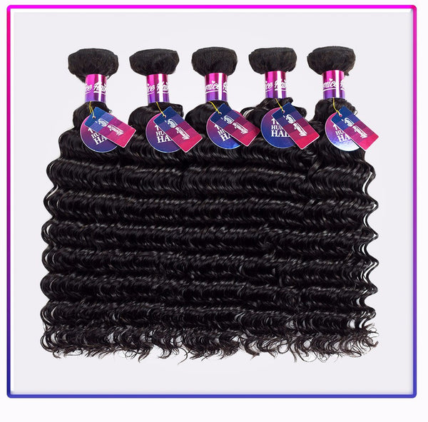 Mornice Hair Peruvian Deep Wave Remy Hair 100% Human Hair Weave 1 Bundle Natural Black Free Shipping 100g