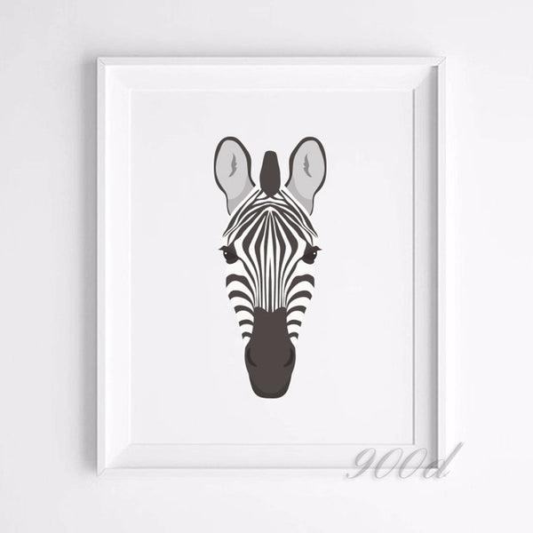 Animal Set Canvas Art Print Painting Poster, Giraffe, Zebra, cheetah Wall Pictures for Home Decoration, Home Decor FA384