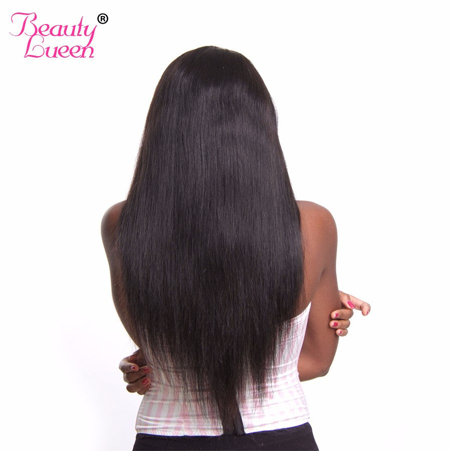 Unprocessed Brazilian Straight Hair Weave Bundles Human Hair Extensions Natural Black Color Can Be Dyed Non Remy Beauty Lueen