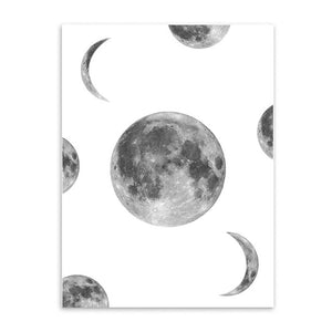 900D Canvas Art Print Painting Poster, Moon Wall Pictures for Home Decoration, Wall Decor S16001-2