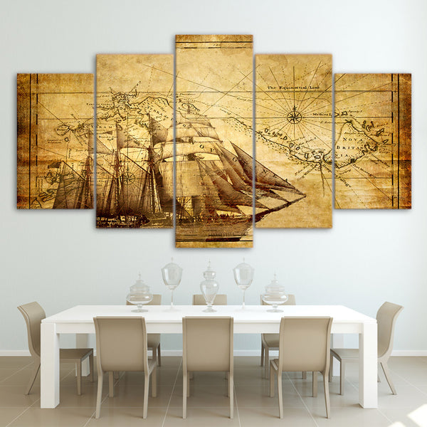 HD Printed old map Painting on canvas room decoration print poster picture canvas framed Free shipping/ny-987