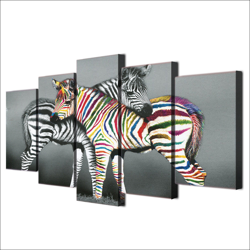 HD Printed netherlands zebra black colorful Painting Canvas Print room decor print poster picture canvas Free shipping/NY-5919