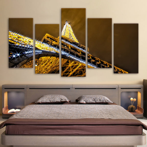 HD Printed glittering night in paris Painting on canvas decoration print poster picture canvas framed Free shipping/ny-967