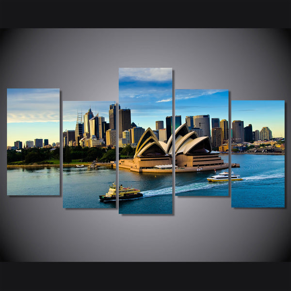 HD Printed sydney opera house picture Painting wall art room decor print poster picture canvas Free shipping/ny-889