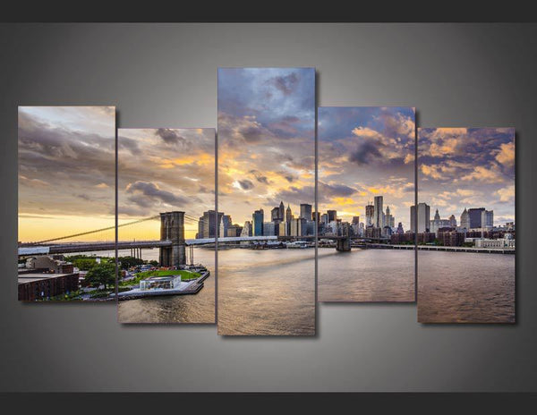 HD Printed brooklyn bridge east river Painting on canvas room decoration print poster picture canvas Free shipping/ny-1874