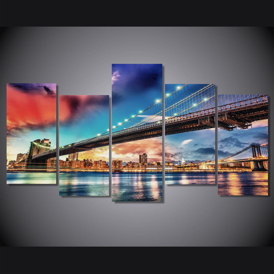 HD Printed New York City Bridge Painting Canvas Print room decor print poster picture canvas Free shipping/ny-3049