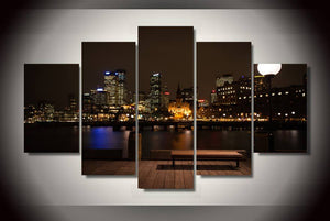 HD Printed sydney australia night Painting Canvas Print room decor print poster picture canvas Free shipping/ny-2142