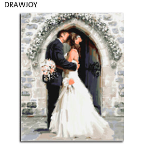 Frameless Pictures Painting By Numbers Home Decoration Hand Painted Oil On Canvas For Living Room Wedding Decoration G160