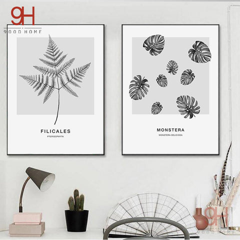 900D Nordic Fern Art Canvas Prints Poster Wall Pictures for Living Room Decoration Wall Decor NOR18