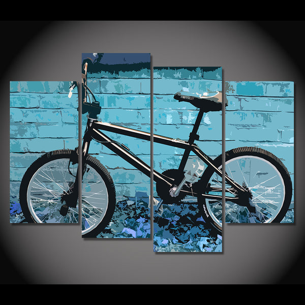 HD Printed 4 piece canvas wall art BMX abstract Painting room decoration pictures Home Decor For Living Room CU-1398B