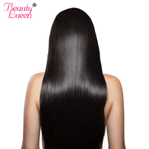 Peruvian Straight Hair Bundles 100% Human Hair Extensions Non Remy Nature Color Double Weft Beauty Lueen Hair Weaving Can Dyed