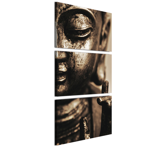 HD printed 3 piece buddha wall art canvas painting for living room buddha statue posters and prints Free shipping/ny-6760C