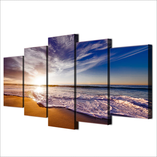 5 Piece Canvas Art Clouds Beach Picture HD Printed Wall Art Home Decor Canvas Painting  Poster Prints Free Shipping NY-6569A
