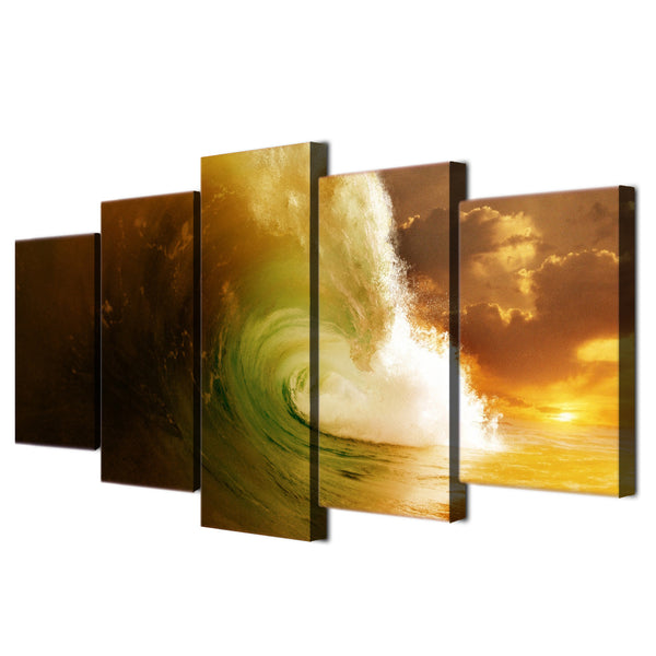 5 piece canvas art paintings HD Printed ocean art seascape wave room decor canvas prints art posters painting framed ny-6235