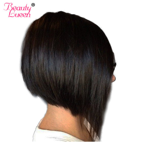 Summer Short Bob Weave Hair Style Malaysian Virgin Hair Straight Hair Human Hair Bundles Natural Color Can Be Dyed Beauty Luuen