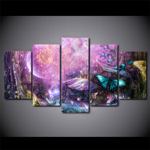 HD Printed 5 piece Wall Pictures for Living Room Modern Psychedelic Light  Wall Art Posters and Prints Free shipping ny-6727A
