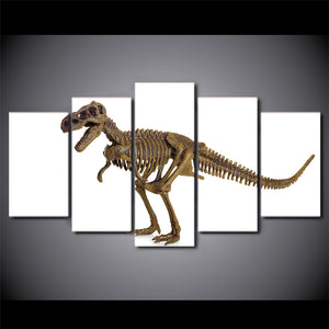 HD printed 5 piece Canvas Art Jurassic Dinosaur Bone Toy Model Painting Wall Decorations For Living Room Free Shipping CU-1539C