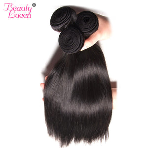 "Unprocessed Peruvian Virgin Hair 8-28""Straight Hair Weave Human Hair Bundles Can Be Dyed And Bleached Free Shipping Beauty Lueen"