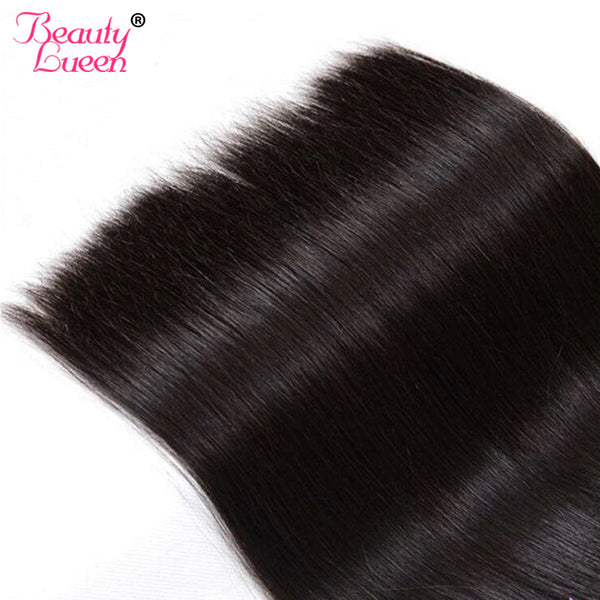 Raw Indian Virgin Hair Straight 100% Human Hair Extensions Beauty Lueen Products 8-28 inch 1 Piece Hair Extension Free Shipping