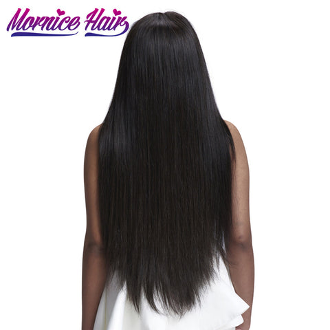 Mornice Hair Malaysian Remy Hair Straight 1 Bundle Natural Color 100% Human Hair Bundles Weave 12-26 Free Shipping 100g