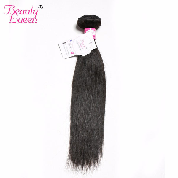 Mongolian Virgin Hair Straight Bundles Unprocessed Human Hair Weave 8-28inch Can Be Curled Double Weft Beauty Lueen Hair