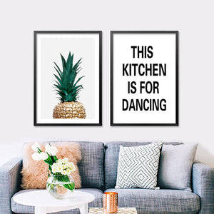 Posters And Prints Wall Art Canvas Painting Wall Pictures For Living Room Canvas Kitchen Word Nordic Decoration No Poster Frame