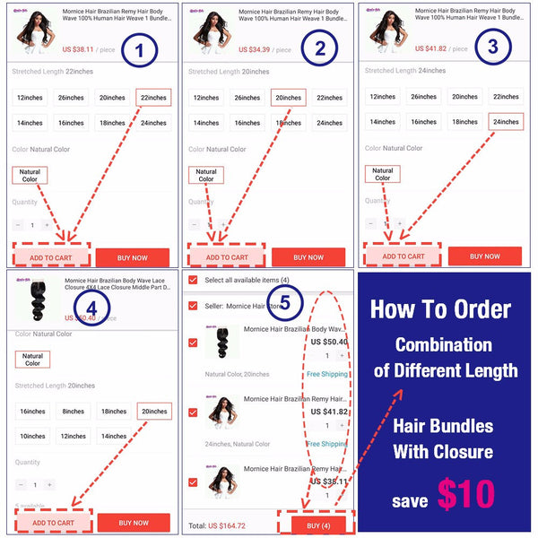 Mornice Hair Peruvian Straight Hair Lace Closure 4X4 Free Part 100% Hand Tied Remy Human Hair Closure Density 130%