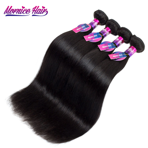 Mornice Hair Peruvian Straight Remy Hair 1 Bundle 12-26 Inch Natural Black Color 100% Human Hair Weave Free Shipping 100g