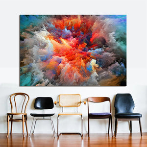 HDARTISAN Modern Abstract Canvas Art Painting Colorful Clouds Wall Pictures For Living Room Home Decor Frameless