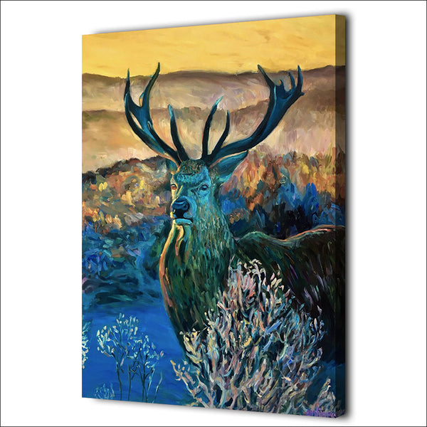 HD Printed 1 piece Canvas Painting Color Deer Paintings for Living Room Wall Room Decoration Posters Free Shipping ny-6670C