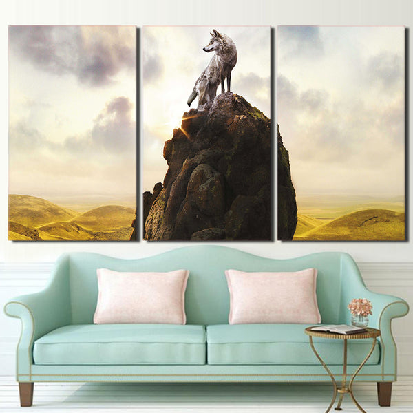 HD printed 3 piece Wolf Totem books poster wall art canvas Painting wall pictures for living room Free shipping/ny-6725D