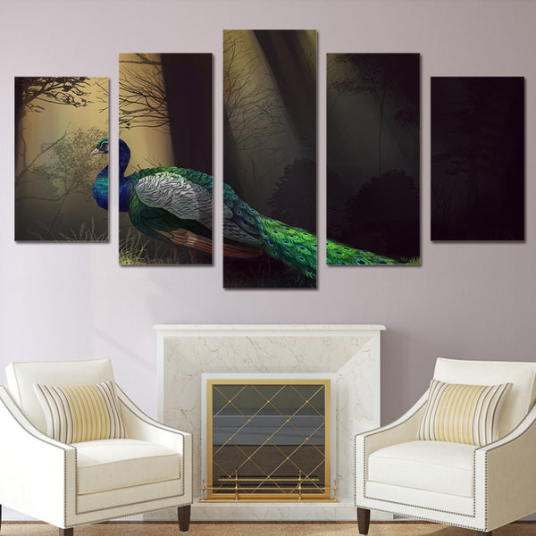 HD Printed Peacock art Painting on canvas room decoration print poster picture canvas Free shipping/ny-1619